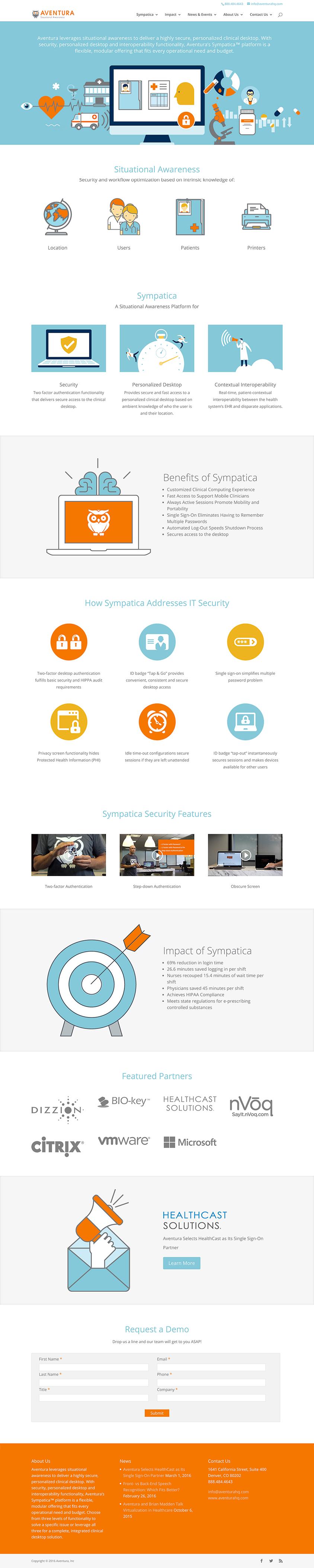 Aventura Website Design