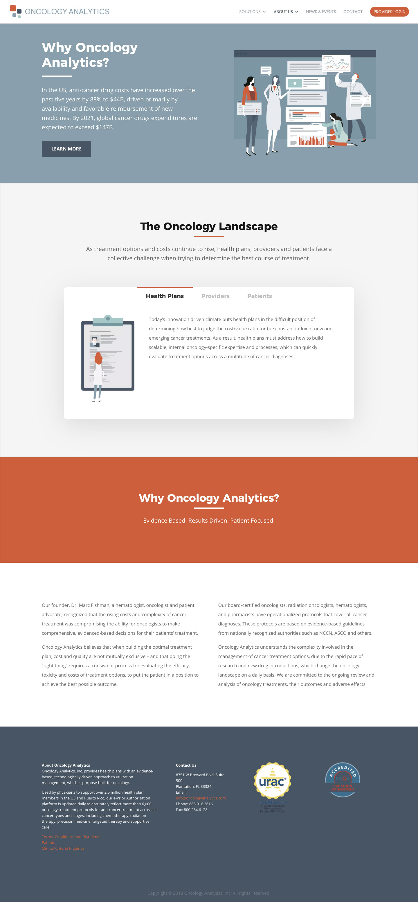 Oncology Analytics - Website