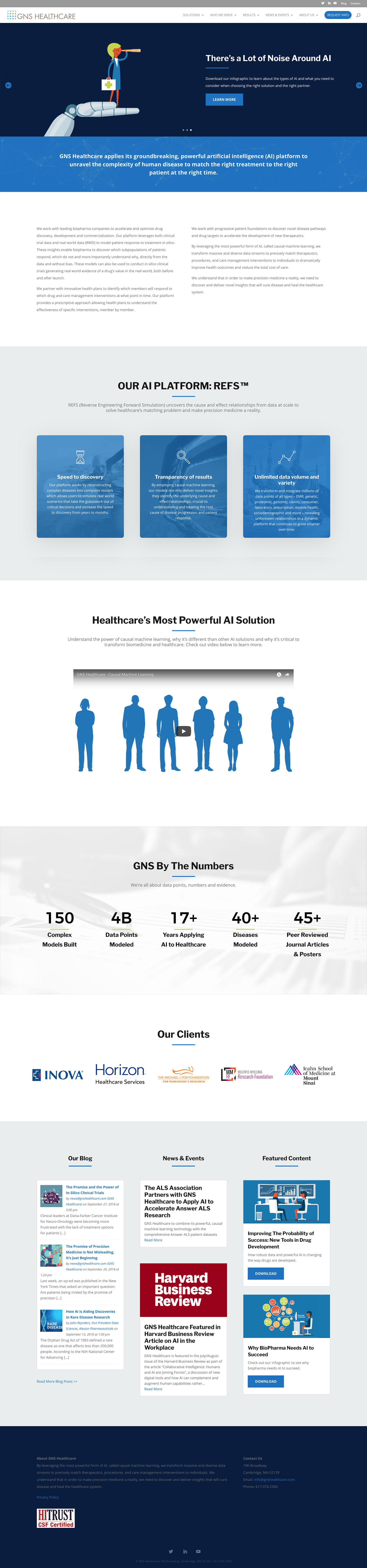 GNS Healthcare - Website